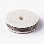 Tiger Tail Wire, Nylon-coated Steel, Stainless Wire, LightGrey, 0.38mm; 50m/roll