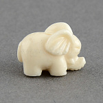 Dyed Elephant Synthetic Coral Beads, Cornsilk, 10x15x9.5mm, Hole: 2mm