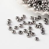 Perles de rocaille en verre fgb® 15/0, Grade a, perles rondes iris, noir plaqué, 1.8~2x1~1.3mm, trou: 0.5 mm; environ 80000 pièces / livre