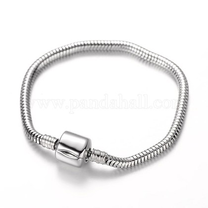 304 Stainless Steel European Style Round Snake Chains Bracelet MakingsSTAS-I047-01C-1