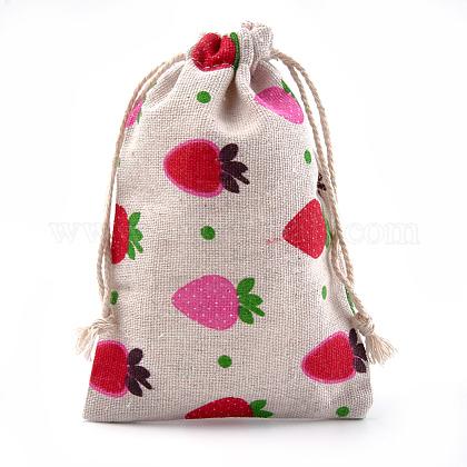 Polycotton(Polyester Cotton) Packing Pouches Drawstring BagsABAG-S004-02C-10x14-1