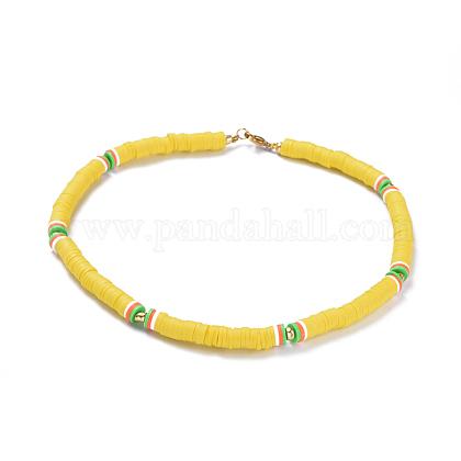 Colliers de foulard en perles de polymère faites main en pâte polymèreNJEW-JN02446-04-1