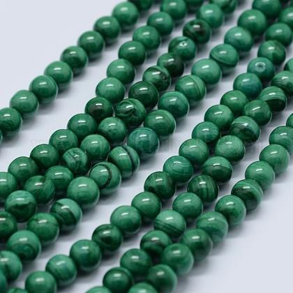 Abalorios de malaquita naturales hebrasG-F571-27AB1-4mm-1