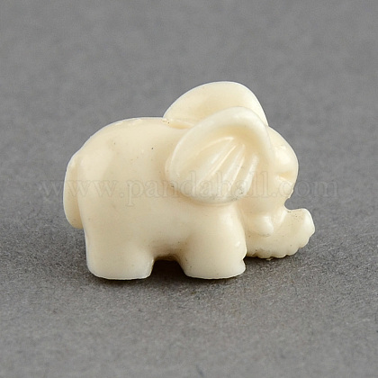 Dyed Elephant Synthetic Coral Beads CORA-S002-03-1
