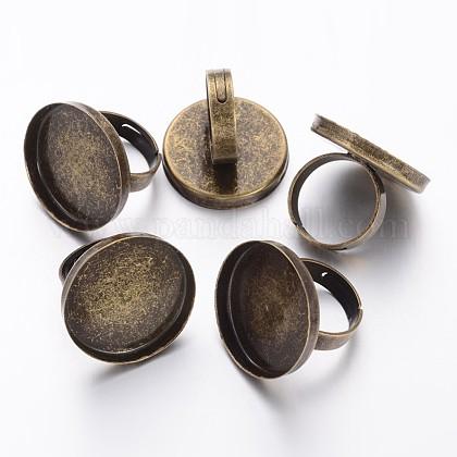 Antique Bronze Tone Adjustable Brass Ring ShanksX-KK-J057-AB-1