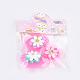 Flor de nylon pinzas para el cabello de cinta mágicaOHAR-S193-52-3