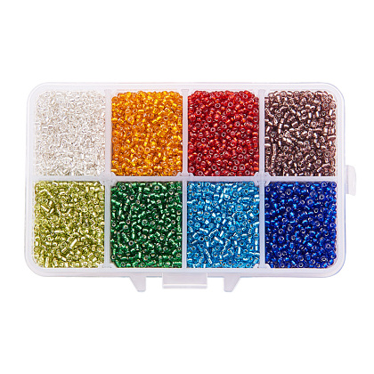 Mixed 12/0 Round Glass Seed Beads SEED-PH0006-2mm-12-1