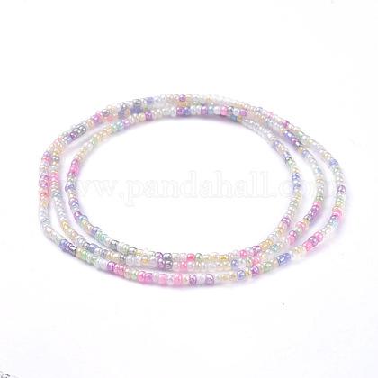Glass Seed Beads Chain BeltsNJEW-C00007-05-1