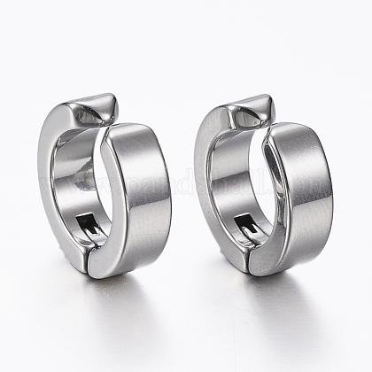 304 Stainless Steel Clip-on EarringsEJEW-H351-18P-1