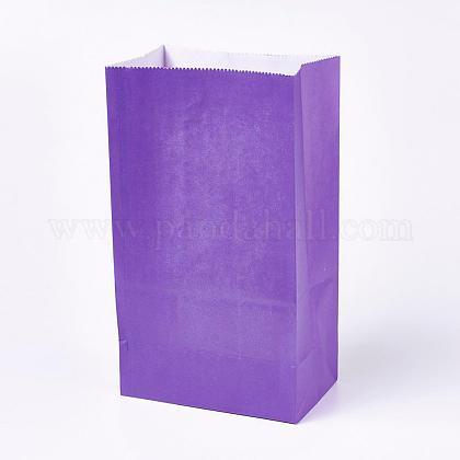 Sac en papier kraft de couleur pureCARB-WH0008-11-1
