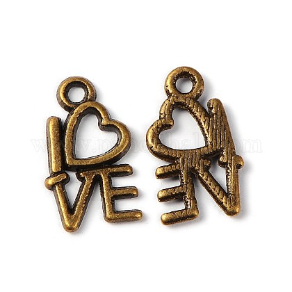For Valentine's Day Tibetan Style Alloy Pendants MLF0299Y-NF-1