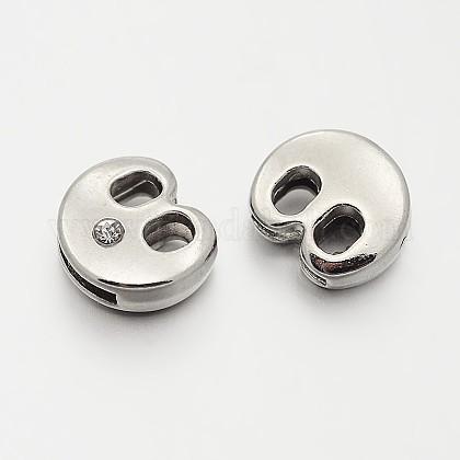 Letter.B Slider Beads for Watch Band Bracelet MakingX-ALRI-O012-B-NR-1
