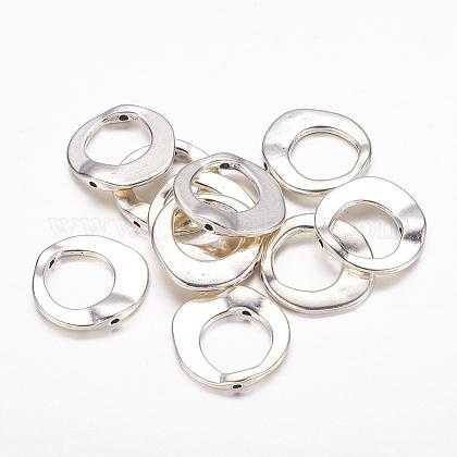 Estilo tibetano marcos de perlas anillo irregularLF10246Y-NF-1