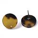 Fornituras de pendiente de botón de acetato de celulosa (resina)KY-R022-016-4