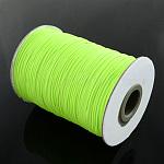 Cordón de poliéster encerado coreano, estilo fluorescente, verde amarillo, 0.5mm, aproximamente 185 yardas / rodillo
