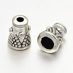 Tibetan Style Alloy Bead Cap & Cone, Antique Silver, 8x6mm, Hole: 1.5mm