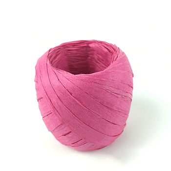 Paper Cords for DIY Jewelry Making, Paper Twine, Deep Pink, 5~7mm; 20m/roll