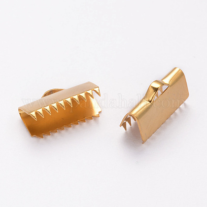 304ステンレス鋼リボンカシメエンドパーツSTAS-K124-03G-1