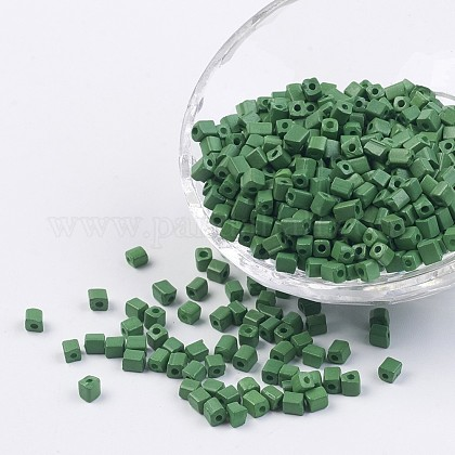 Cube Opaque Colours Glass Seed BeadsSEED-R026-A12-1
