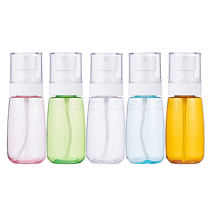 Juegos de botellas de spray de plástico transparente petg de 60 mlMRMJ-BC0001-76-1