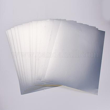 Etiqueta adhesiva para mascotas de plata mate en blanco a25 de 4 micras de espesorAJEW-WH0053-03-1