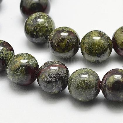 Natural Dragon Blood Beads Strands G-N0224-01-10mm-1