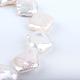 Rombos perlas barrocas naturales perlas keshi perlas hebrasPEAR-R015-05-3