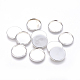 Brass Plain Edge Bezel Cups, Cabochon Settings, Lead Free and Cadmium Free, DIY Material for Hair Accessories, Flat Round, Silver Color Plated, 18mm, Tray: 16mm