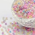 8/0 стакан бисер, круглое отверстие Rocailles, разноцветные, диаметром около 3 мм , отверстие : 0.8 мм, Около 10000 шт / фунт