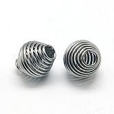 304 billes à ressort en acier inoxydable, Perles de bobine, Toupie, couleur inoxydable, 11x10mm