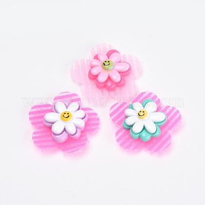 Flor de nylon pinzas para el cabello de cinta mágicaOHAR-S193-52-1
