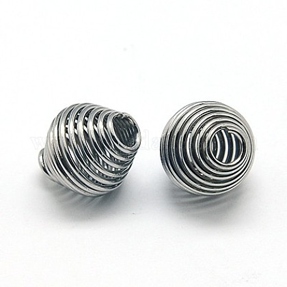 304 Stainless Steel Spring Beads STAS-E040-1-1