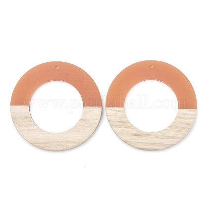 Colgantes de resina & maderaRESI-T023-06B-1