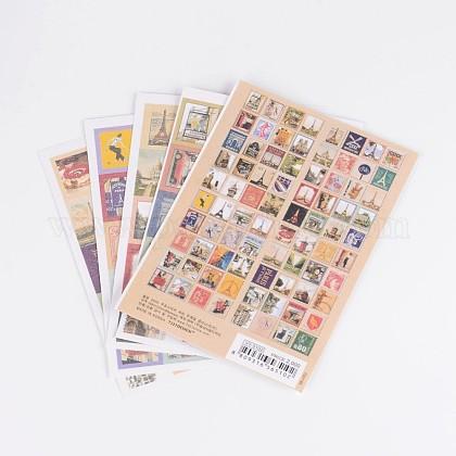 Postage Stamp Shape DIY Paper Label Paster Picture StickersAJEW-L058-49-1