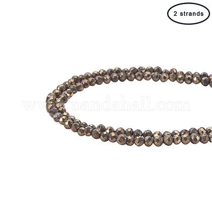 Natural Pyrite Beads StrandsG-PH0034-15-1
