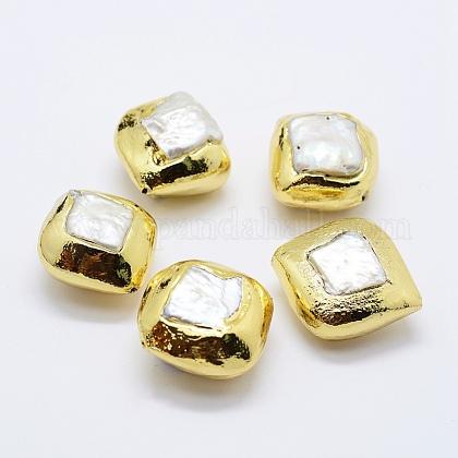 Perlas naturales abalorios de agua dulce cultivadasPEAR-F006-79G-1
