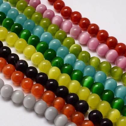 Chapelets de perles d'œil de chatCE-M011-14mm-M-1