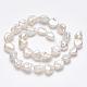 Hebras de perlas keshi de perlas barrocas naturalesPEAR-K004-34-2