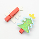 Cartoon Christmas Tree Wooden Note Pegs ClipsAJEW-S009-03-2