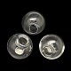 Round Handmade Blown Glass Globe BeadsBLOW-R002-20mm-1