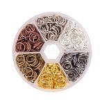 PandaHall About 250 Pcs 6 Colors 10mm Iron Open Jump Rings Chainmail Link Wire 21-Gauge for Jewelry Making