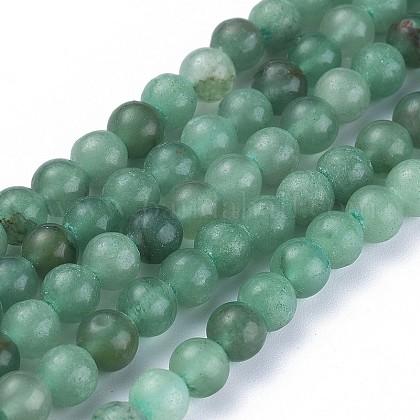 Chapelets de perles en aventurine vert naturelG-Q462-6mm-20A-1