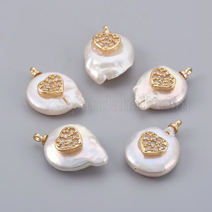 Colgantes naturales de perlas cultivadas de agua dulcePEAR-F008-23G-03-1