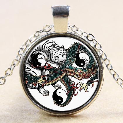 Yin yang con vidrio plano y redondoNJEW-N0051-010U-02-1