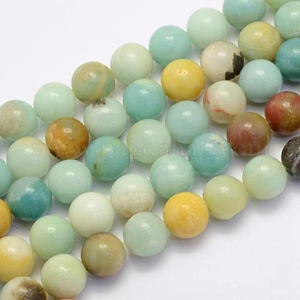 Natural Amazonite Beads Strands G-G697-F06-8mm-1