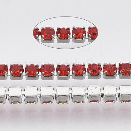 Chaîne tasse strass en 304 acier inoxydableSTAS-T055-06P-1