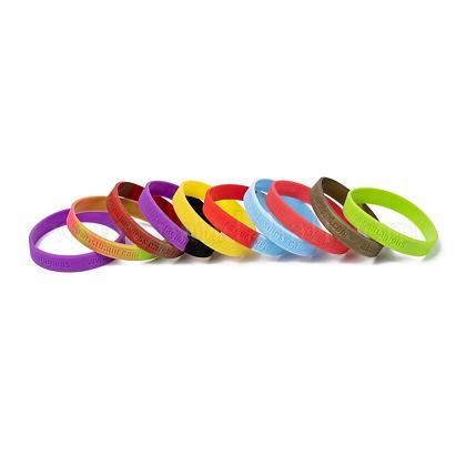 Свободные браслеты браслеты силикона образцаBJEW-K165-03B-1