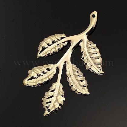 Iron Leafy Branch Filigree Big PendantsX-IFIN-P003-06-1