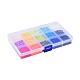 Cuentas de arcilla polimérica artesanal ambiental de 15 colorCLAY-X0011-02-3