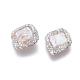 Perlas naturales abalorios de agua dulce cultivadasPEAR-F015-15-2